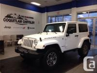 Beautiful White Jeep Wrangler Rubicon loaded and ready