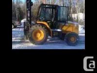 2005 JCB Rough Terrain Forklift 940 Yellow exterior