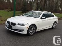 2013 BMW 528i xdrive. No accidents. White on Cinnamon
