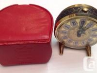 Welcome Vintage Germany alarm clock with romans numeral