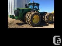 2013 John Deere 9560R four wheel-drive Tractor. PTO,