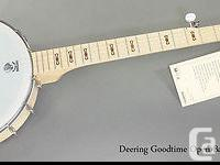 On offer is a new Deering Goodtime open-back 5-string