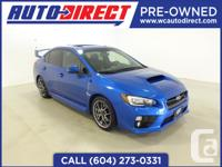 This Sporty 2015 Subaru WRX is a sleek and fun ride.