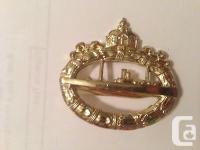 Up for auction is a WW1 German Imperial Navy Badge Pin