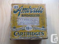 Vintage Ambelite Smokeless Cartridges Box - Hounslow &