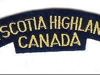 A Canadian Nova Scotia Highlanders battle dress