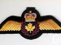 A modern Canadian Air Force pilot wing. The badge is in