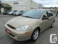 2001 Ford Focus SE 4 Door Compact Sedan 2.0L four Cyl