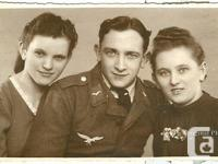 Original photo card from WW2. German Luftwaffe Soldier