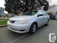 2005 TOYOTA COROLLA four DOOR AUTOMATIC AIR CONDITION
