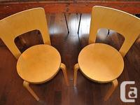 Very rare, early pair of Alvar Aalto chairs, a pair in