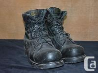 One pair of USED Canadian military combat boots .