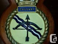 This is the ships crest of HMCS Calgary a Canadian