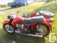 1976 Dnieper Motorcycle, only 4350kms since new. This