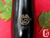 Vintage and Rare Selmer Paris 10G ~ 68 mm C larinet