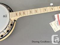On offer is a new Deering Goodtime two resonator-back,
