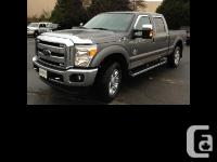 2014 Ford F350 Lariat FX4 Black leather seats, Heated -