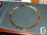 Gold Plated Flat Flange for five string banjo - New