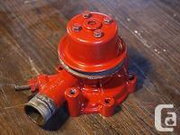 This is a cooling fluid pump taken from a Westerbeke