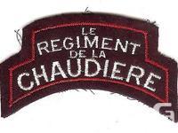A Canadian Regiment de la Chaudiere battle dress