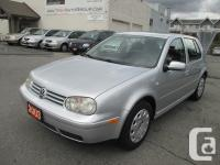 2003 Volkswagen Golf GL Manual 4 Door Compact Hatchback
