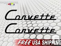 ". . Pair of 1½""x8"" Corvette Decals Give Your Toolbox"
