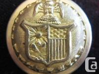 You are viewing a large undated brass uniform button