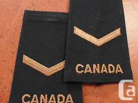 This is a pair of CANADIAN ARMED FORCES PRIVATE rank