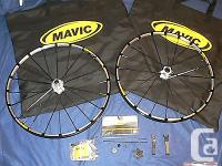 This is a f ront and rear set of Crossmax wheels with a