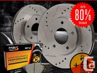 � two Slotted & Drilled Brake Rotors (Front)� one Set