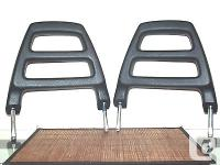 Volvo 240 242 244 245 Blue Front Headrests left And