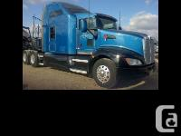 2012 Kenworth T660 Blue exterior, Gray interior 244in