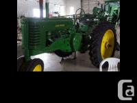 1952 John Deere A Tractor New paint New tires Automatic