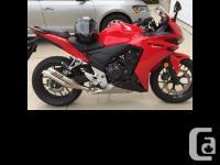 2014 Honda CBR500R 2014 Honda CBR500R model in good