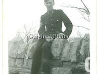 Canadian Sargeant in England, WW2. Original photo from