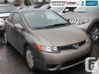 Get into this sporty 2007 Honda Civic DXG coupe with