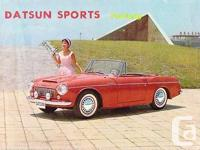 This is an original 1960s Datsun sales catalog covering