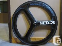 HED3C Trispoke tubular wheelset with New Vredstein