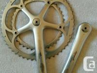 Campagnolo Record cranks set USED. 175mm and 53-39
