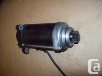 This starter motor came from a 1987 Yamaha YX600