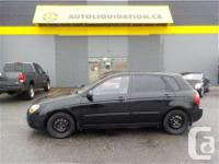 2008 KIA SPECTRA five ...THIS LOCAL BC UNIT IS EQUIPPED