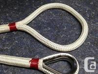 "5-16 white spool 1/2"" x 35ft Cajun mooring line - nylon"