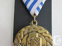 A fullsize Original Croatian Medal for Participation in