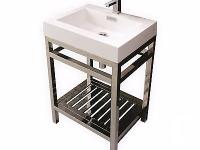 CISCO 24� STAINLESS STEEL CONSOLE W/ WHITE ACRYLIC SINK