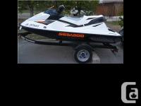2010 Sea Doo GTI 130. Inline 3 cyl four stroke engine,