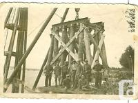 Original photo from WW2. German Soldiers building a