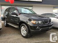 2005 BMW X5 AWD 3.0i Black on Black. Leather Heated