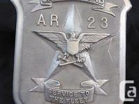 For sale is a USA ship badge from WW II. On it is the