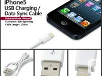 USB Sync Data / Charging Lightning Cable for iPhone 5 -
