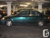 Used 1999 Honda Civic, Green, 4 door, 199024 km. Asking